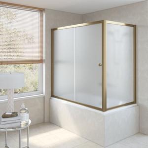 Шторка на ванну Vegas Glass ZV+ZVF 180*85 05 10 профиль бронза стекло сатин oodji 11700209 42250 4500n