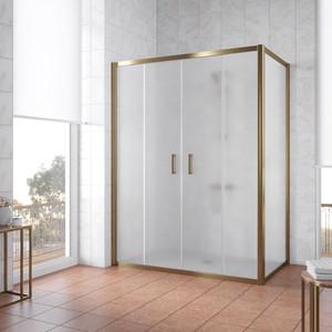 Душевой уголок Vegas Glass Z2P+ZPV 160*80 05 10 профиль бронза, стекло сатин уголок билар ups 160
