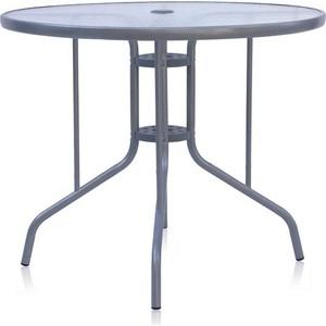 Стол Afina garden D90 silver metallic стул алюминевый afina garden lft 3059 silver metallic