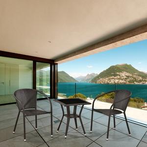 Комплект мебели из искусственного ротанга Afina garden T25A/Y137C-W53 brown 2Pcs