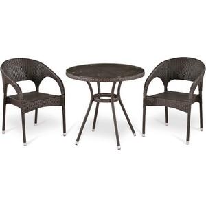 Комплект мебели из искусственного ротанга Afina garden T283ANT/Y90C-W51 brown 2Pcs