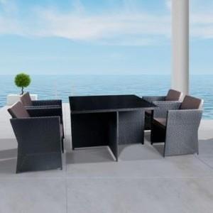 Комплект мебели из искусственного ротанга Afina garden T300A/Y300A-W53 brown (4+1)