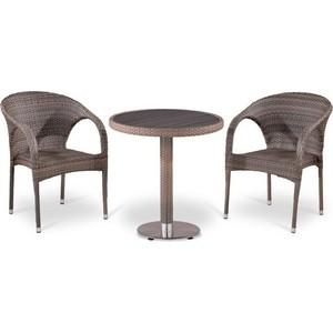 Комплект мебели из искусственного ротанга Afina garden T501DG/Y290BG-W1289 pale (2+1) цена и фото