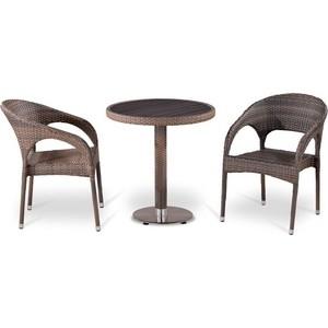 Комплект мебели из искусственного ротанга Afina garden T501DG/Y90CG-W1289 pale (2+1) цена и фото