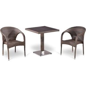 Комплект мебели из искусственного ротанга Afina garden T502DG/Y290BG-W1289 pale (2+1) цена и фото