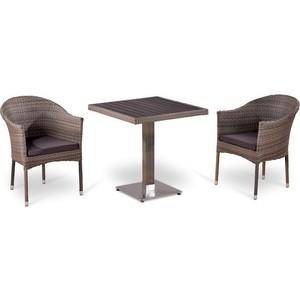 Комплект мебели из искусственного ротанга Afina garden T502DG/Y350G-W1289 pale (2+1) цена и фото