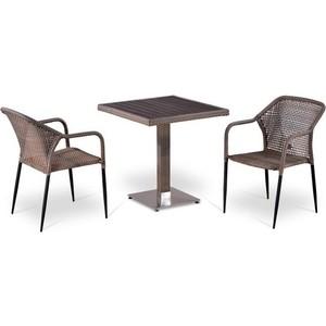 Комплект мебели из искусственного ротанга Afina garden T502DG/Y35G-W1289 pale (2+1) цена и фото