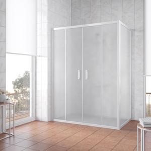 Душевой уголок Vegas Glass Z2P+ZPV 160*70 01 10 профиль белый, стекло сатин уголок билар ups 160