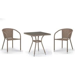 Комплект мебели из искусственного ротанга Afina garden T282BNT/Y137C-W56 light brown (2+1)