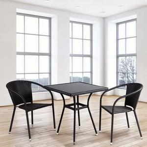 Комплект мебели из искуственного ротанга Afina garden T282BNS/Y137C-W53 brown (2+1) набор уличный afina t197bns w53 y137c w53 brown 4pcs