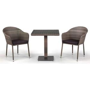 Комплект мебели из искусственного ротанга Afina garden T601G/Y375G-W1289 pale (2+1)