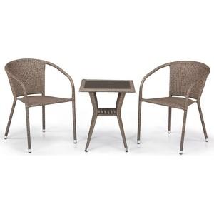 Комплект мебели из искусственного ротанга Afina garden T25B/Y137C-W56 light brown (2+1) цена