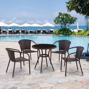 Комплект мебели из искуственного ротанга Afina garden T282ANS/Y137C-W53brown (4+1)