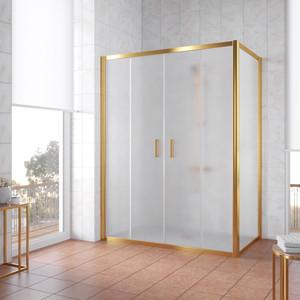 Душевой уголок Vegas Glass Z2P+ZPV 220*100 09 10 профиль золото, стекло сатин душевой уголок sturm gallery 90x90х190 профиль золото
