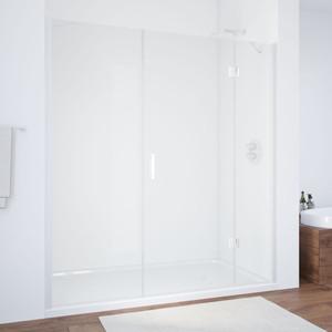 Душевая дверь Vegas Glass AFP-F 160 прозрачная, белый, правая (AFP-F 160 01 01 R) цена