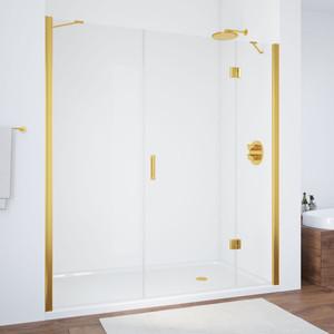 Душевая дверь Vegas Glass AFP-F 160 прозрачная, золото, правая (AFP-F 160 09 01 R) цена