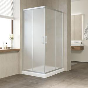 Душевой уголок Vegas Glass ZA-F 110*90 07 10 профиль матовый хром, стекло сатин
