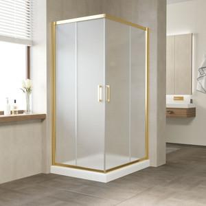Душевой уголок Vegas Glass ZA-F 120*90 09 10 профиль золото, стекло сатин душевой уголок sturm gallery 90x90х190 профиль золото