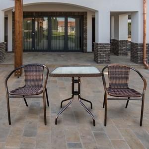 Комплект мебели Afina garden TLH-037BR2/060SR-60x60 Brown 2Pcs