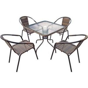 Комплект мебели Afina garden Николь 2B TLH-037B/080SR-80x80 Brown 4Pcs