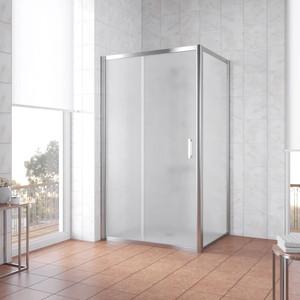 Душевой уголок Vegas Glass ZP+ZPV 110*80 08 10 профиль глянцевый хром, стекло сатин