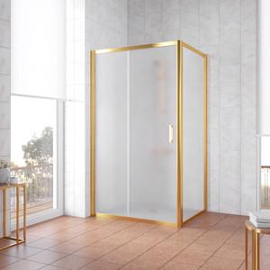 Душевой уголок Vegas Glass ZP+ZPV 115*80 09 10 профиль золото, стекло сатин душевой уголок sturm gallery 90x90х190 профиль золото