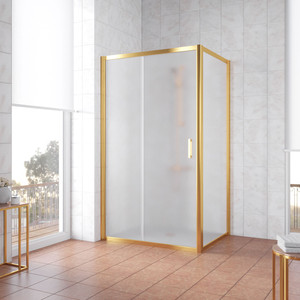 Душевой уголок Vegas Glass ZP+ZPV 160*100 09 10 профиль золото, стекло сатин уголок билар ups 160