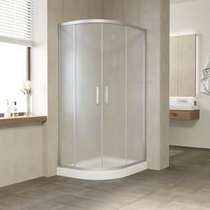 Душевой уголок Vegas Glass ZS-F 100*90 07 10 профиль матовый хром, стекло сатин