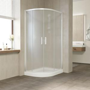 Душевой уголок Vegas Glass ZS-F 120*100 01 10 профиль белый, стекло сатин