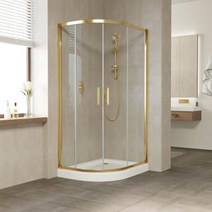 Душевой уголок Vegas Glass ZS-F 100*80 09 01 профиль золото, стекло прозрачное душевой уголок sturm gallery 90x90х190 профиль золото