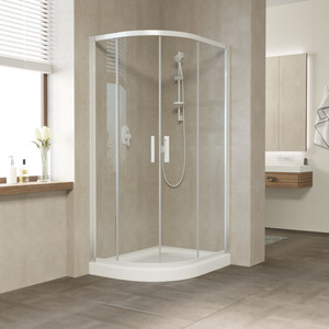 Душевой уголок Vegas Glass ZS-F 120*90 01 01 профиль белый, стекло прозрачное душевой уголок vegas zs f zs f 90 120 01 01