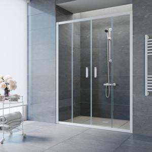 Душевая дверь Vegas Glass Z2P 150 прозрачная, белый (Z2P 150 01 01) цена