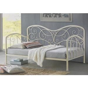 Кровать Woodville Inga glossy ivory 90x200 см