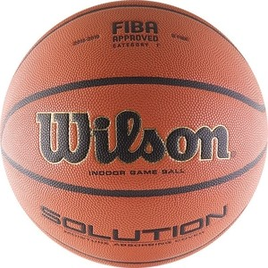 Мяч баскетбольный Wilson Solution (WTP000265) р.7 FIBA Approved VTB24