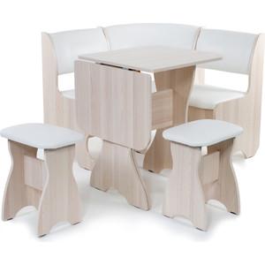 цена на Набор мебели для кухни Бител Тюльпан мини - однотонный (ясень, Борнео милк, ясень)