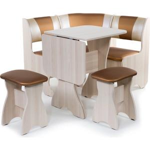 Набор мебели для кухни Бител Тюльпан мини - комби (ясень С-109 + С-101 ясень) цена и фото
