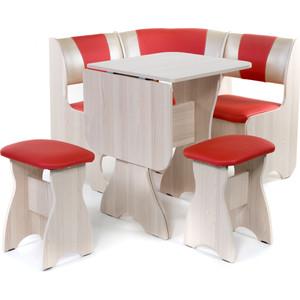 Набор мебели для кухни Бител Тюльпан мини - комби (ясень терра эффект-112 + С-101 ясень) цена и фото