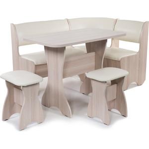 Набор мебели для кухни Бител Тюльпан - однотонный (ясень, Борнео крем, ясень) фото