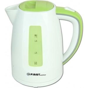 Чайник электрический FIRST FA-5427-7 White/Green чайник first fa 5427 6 white red 2200 вт 1 7 л пластиковый дисковый нагреватель