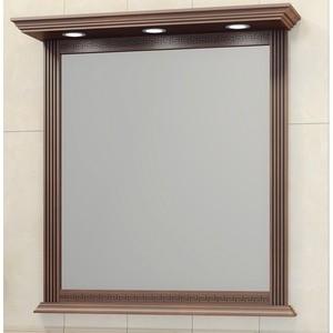 Зеркало в деревянной раме Opadiris Корлеоне 100 светлый орех с темной патиной, подсветкой (Z0000008185)