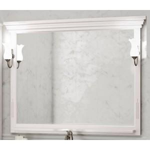 Зеркало в деревянной раме Opadiris Риспекто 120 белый с оттенком, для светильников 00000001041, Z0000001408 (Z0000009684) зеркало в деревянной раме opadiris риспекто 105 белый матовый для светильников z0000006243 z0000012655