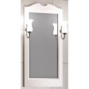 Зеркало в деревянной раме Opadiris Клио 50 белый с оттенком, для светильников 00000001041, Z0000001408 (Z0000003246)