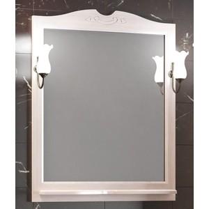 Зеркало с полкой Opadiris Тибет 80 для светильников 00000001041, беленый бук (Z0000004092) зеркало в деревянной раме opadiris тибет 80 нагал для светильников 00000001041 z0000003204