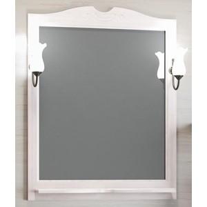 Зеркало в деревянной раме Opadiris Клио 80 белый с оттенком, для светильников 00000001041, Z0000001408 (Z0000000859) зеркало в деревянной раме opadiris риспекто 105 слоновая кость для светильников 00000001041 z0000001408 z0000006704