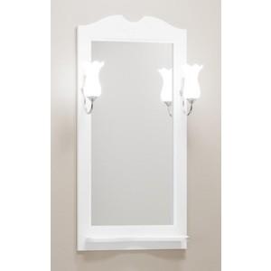 Зеркало с полкой Opadiris Тибет 50 для светильников Z0000006243, белый матовый 9003 (Z0000012652)