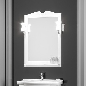 Зеркало с полкой Opadiris Тибет 70 для светильников Z0000006243, белый матовый 9003 (Z0000012653)