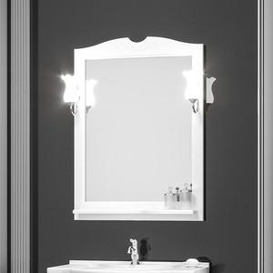 Зеркало с полкой Opadiris Тибет 80 для светильников Z0000006243, белый матовый 9003 (Z0000012654)