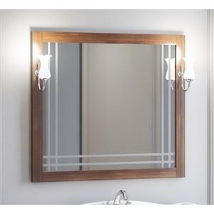 Зеркало в деревянной раме Opadiris Сакура 100 светлый орех, для светильников Z0000006243 (Z0000010268) зеркало в деревянной раме opadiris риспекто 105 белый матовый для светильников z0000006243 z0000012655