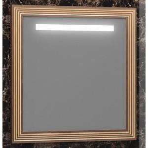 Зеркало Opadiris Карат 80 с подсветкой, сенсорный выключатель, коричневое патиной (Z0000004322)