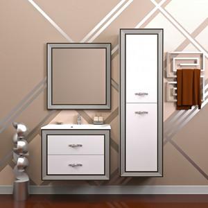 Мебель для ванной Opadiris Карат 80 серебро opadiris мебель для ванной opadiris карат 80 серебряная патина